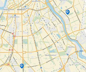 Касторама на карте в Санкт-Петербурге